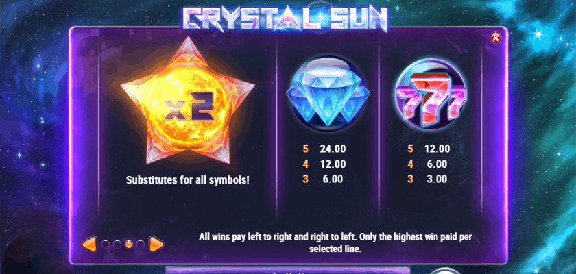 Crystal Sun - symbols