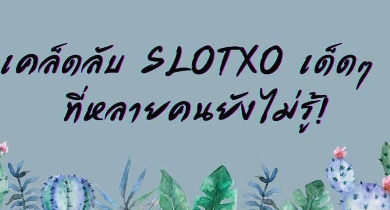 เคล็ดลับ SLOTXO เด็ดๆ ที่หลายคนยังไม่รู้! slot slotxo เกมสล็อต สล็อตออนไลน์ เกมสล็อตออนไลน์ ทดลองเล่นสล็อตออนไลน์ ทางเข้าเล่นslot สมัครสมาชิกslotxo